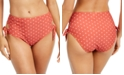 SUNDAZED Printed Cutout Side-Tie Bikini Bottoms, Created for Macy's