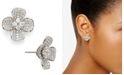Eliot Danori Cubic Zirconia Pavé Flower Stud Earrings, Created for Macy's
