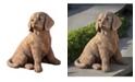 Campania International Golden Retriever Puppy Garden Statue