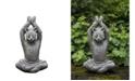 Campania International Yoga Cat Garden Statue