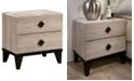 Furniture of America Trestlina 2-Drawer Nightstand