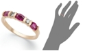 Macy's 14k Rose Gold Ring, Ruby (1 ct. t.w.) and Diamond (1/8 ct. t.w.) Ring