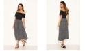 AX Paris Women's 2 In 1 Polka Dot Pleated Midi Dress