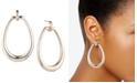 Lauren Ralph Lauren Gold-Tone Oval Drop Hoop Earrings