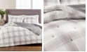 Martha Stewart Collection Tufted Plaid King/Cal King Quilt, Created for Macy's