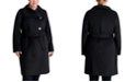 Michael Kors Plus Size Asymmetrical Belted Coat, Created for Macy's