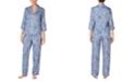 Lauren Ralph Lauren 3/4 Sleeve Sateen Pajama Set