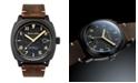 Spinnaker Men's Hull California Automatic Dark Brown Genuine Leather Strap Watch 42mm