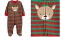 Carter's Baby Boy  Christmas Reindeer Zip-Up Fleece Sleep & Play