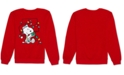 Peanuts Juniors' Snoopy Holiday Lights Graphic Sweatshirt