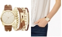 Jessica Carlyle Women's Brown Polyurethane Strap Watch 36mm, Gift Set