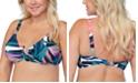 Raisins Curve Trendy Plus Size Byron Crystal Cove Printed Bra Bikini Top