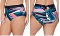 Raisins Curve Trendy Plus Size Island Crystal Cove Printed Bikini Bottoms