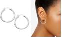 "Giani Bernini Small Sterling Silver Click Top Hoop Earrings, 1"""