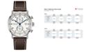 Hamilton Men's Swiss Automatic Chronograph Khaki Navy Brown Leather Strap Watch 44mm H77706553