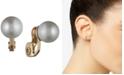 Anne Klein Gold-Tone White Glass Pearl E-Z Comfort Clip-On Earrings