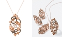 """Le Vian Crazy Collection® Diamond Fancy Scroll Floral 18"""" Pendant Necklace (1-1/5 ct. t.w.) in 14k Rose Gold"""