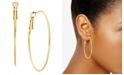 """INC International Concepts INC Large 2"""" Gold Tone Wire Hoop Earrings, Created for Macy's"""