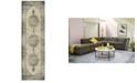 """JHB Design Tidewater Medallion Ivory/Grey 2'3"""" x 7'6"""" Runner Rug"""