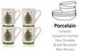 Spode Christmas Tree Stacking Mugs, Set of 4