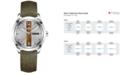 Hamilton Men's Swiss Broadway Green Fabric Strap Watch 40mm