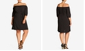 City Chic Trendy Plus Size Off-The-Shoulder Shift Dress