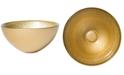 VIETRI Glitter Glass Gold Small Bowl