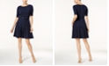 Charter Club Petite Belted Dot-Print Fit & Flare Dress, Created for Macy's