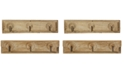 3R Studio Wooden Coat-Hook Hanging, Set of 2