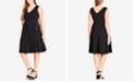 City Chic Trendy Plus Size Sleeveless Lace-Up Dress