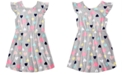 Epic Threads Toddler Girls Printed Flutter-Sleeve Dress, Created for Macy's