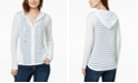 INC International Concepts INC Shadow-Stripe Front-Zip Hoodie, Created for Macy's