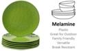 Certified International 6-Pc. Green Melamine Salad Plate Set