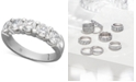 Macy's Certified Five Diamond Station Band Ring in 14k White Gold (2 ct. t.w.)