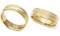 Macy's Men's Engraved Wedding Band in 14k Gold