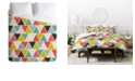 Deny Designs Heather Dutton Triangulum Queen Duvet Set
