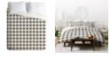 Deny Designs Holli Zollinger Anthology Of Pattern Seville Gingham Black King Duvet Set