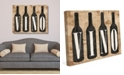 "Creative Gallery Vintage Vino Bottles On Newsprint Pattern 20"" X 24"" Canvas Wall Art Print"