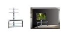 "New Spec Inc 42"" TV Stand Mount with Tempered Glass"