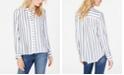 INC International Concepts INC Metallic-Stripe Shirt, Created for Macy's
