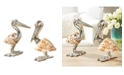 Two's Company Shell Sculpture Pelicans - Set of 2