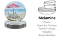 Certified International Ocean View Melamine 6-Pc. Dinner Plate Set