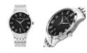 Stuhrling Alexander Watch A103B-02, Stainless Steel Case on Stainless Steel Bracelet