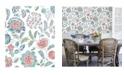 """Brewster Home Fashions Tropez Jacobean Wallpaper - 396"""" x 20.5"""" x 0.025"""""""