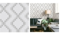 "Brewster Home Fashions Mosaic Grid Wallpaper - 396"" x 20.5"" x 0.025"""