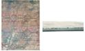 Bridgeport Home Aroa Aro2 Teal 9' x 12' Area Rug