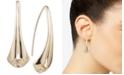 Anne Klein Gold-Tone Folded Ribbon Threader Earrings