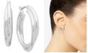 """Anne Klein Twist Small Hoop Earrings 1"""""""