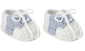 Baby Deer Baby Boy Crochet Bootie with Light Blue Saddle