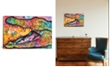 """iCanvas In Awhile Crocodile I by Dean Russo Gallery-Wrapped Canvas Print - 26"""" x 40"""" x 0.75"""""""